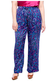 Jones New York Signature Plus Size Drawstring Pant