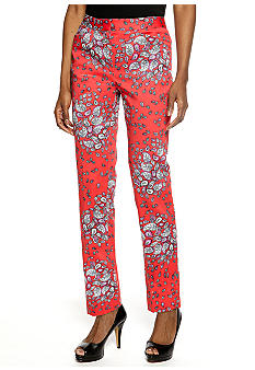 Jones New York Signature Paisley Print Cropped Trouser