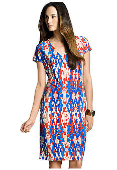 Jones New York Signature Cap Sleeve Wrap Dress