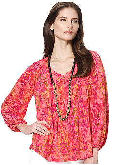 Jones New York Signature V Neck Pullover Blouse