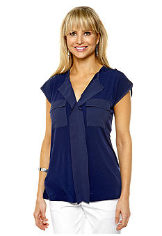 Jones New York Signature Extended Shoulder Top