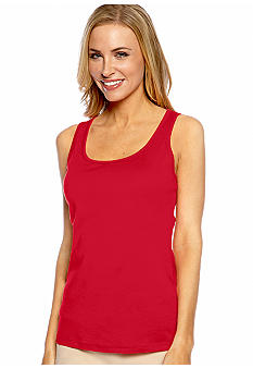 Jones New York Signature Scoop Neck Tank Top
