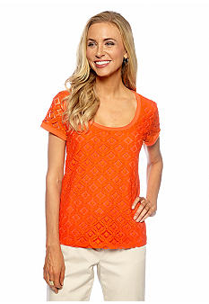 Jones New York Signature Lace Front Top