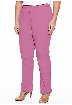 Jones New York Signature Plus Size 5 Pocket Pant