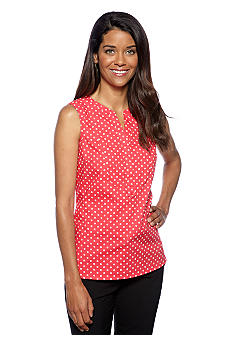 Jones New York Signature Petite Sleeveless Popover Blouse