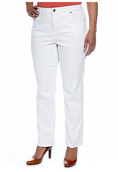 Jones New York Signature Plus Size Straight Leg Jean