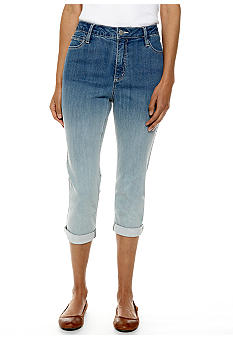 Jones New York Signature Petite Cuff Ombre Capri Pant