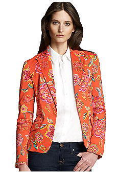 Jones New York Signature Fitted Print Blazer