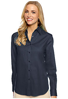 Jones New York Signature Basic Long Sleeve Shirt
