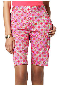 Jones New York Signature Printed Tailored Bermuda Short