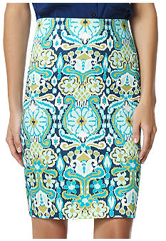 Jones New York Signature Printed Pencil Skirt