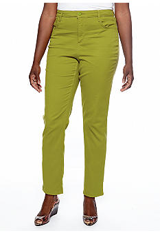 Jones New York Signature Plus Size 5 Pocket Ankle Pant