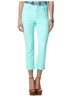 Jones New York Signature 5 Pocket Twill Crop Pant