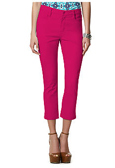 Jones New York Signature Petite 5 Pocket Twill Crop Pant