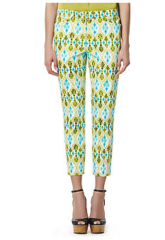 Jones New York Signature Slim Printed Crop Pants