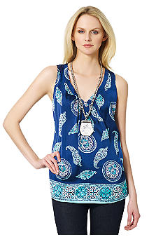 Jones New York Signature V Neck Tunic