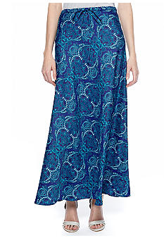 Jones New York Signature Bias Cut Maxi Skirt