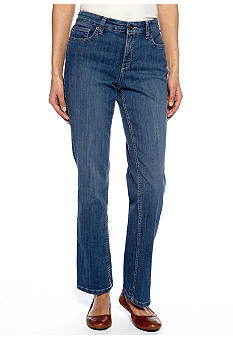 Jones New York Signature Petite Straight Leg Jean