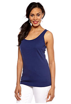 Jones New York Signature Scoop Neck Tank