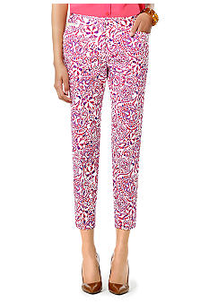 Jones New York Signature Petite Printed Crop Pant