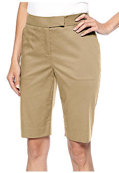 Jones New York Signature Plus Size Tailored Bermuda Short