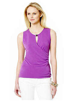 Jones New York Signature Faux Wrap Top