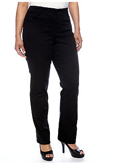 Jones New York Signature Plus Size Twill Pant