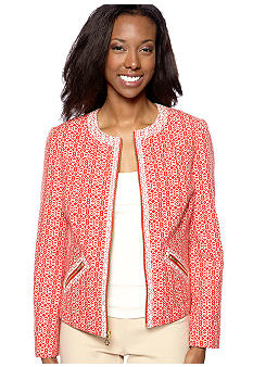 Jones New York Collection Petite Jeweled Neck Jacket