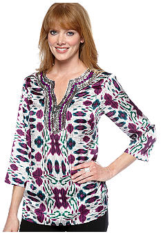 Jones New York Signature Tunic Top With Embellishment