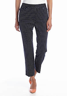 Jones New York Signature Printed Crop Trouser