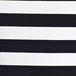 Women's T-shirts: Black/White Jones New York Signature High Low Striped Tee