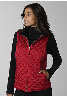 Jones New York Signature Reversible Jacket Vest - Belk.com