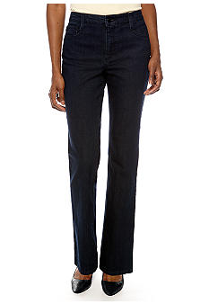 Jones New York Signature Embellished Straight Leg Jean