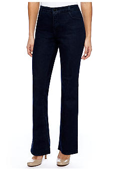 Jones New York Signature Petite Lexington Straight Leg Jean
