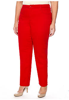 Jones New York Signature Plus Size Slimming Ankle Pant