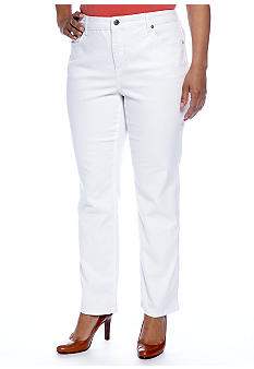 Jones New York Signature Plus Size Straight Leg Pant