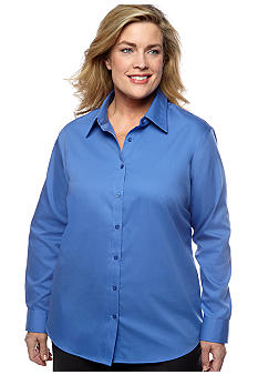 Jones New York Signature Plus Size Easy Care Shirt