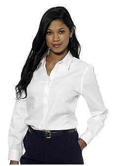 Jones New York Signature Easy Care Cotton Shirt