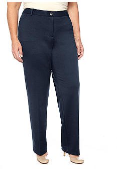 Jones New York Signature Plus Size Classic Twill Pant