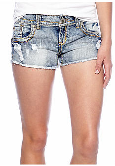 Almost Famous Frayed Heavy Stitched Jean Short