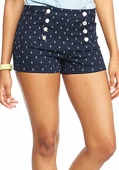 Almost Famous Anchor Printed High Waist Sailor Shorts