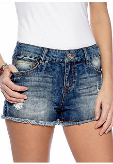 Almost Famous Fray Hem Jean Short