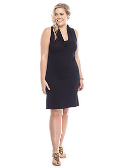 Almost Famous™ Plus Size Cowl Neckline Dress