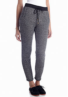 Almost Famous Drawstring Knit Pant