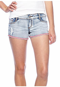 Almost Famous Pink Trim Jean Short