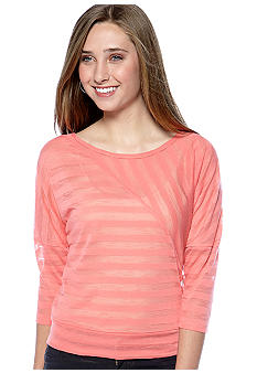 Almost Famous Dolman Sleeve Stripe Top