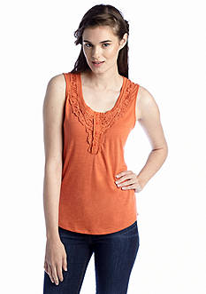 Almost Famous Crochet Front Tank