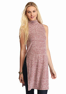 Almost Famous Funnel Knit Sleeveless Tunic