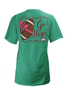 ROYCE University of Arkansas Bow Tee