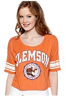 Pressbox Clemson Super Soft Crew Neck Tee